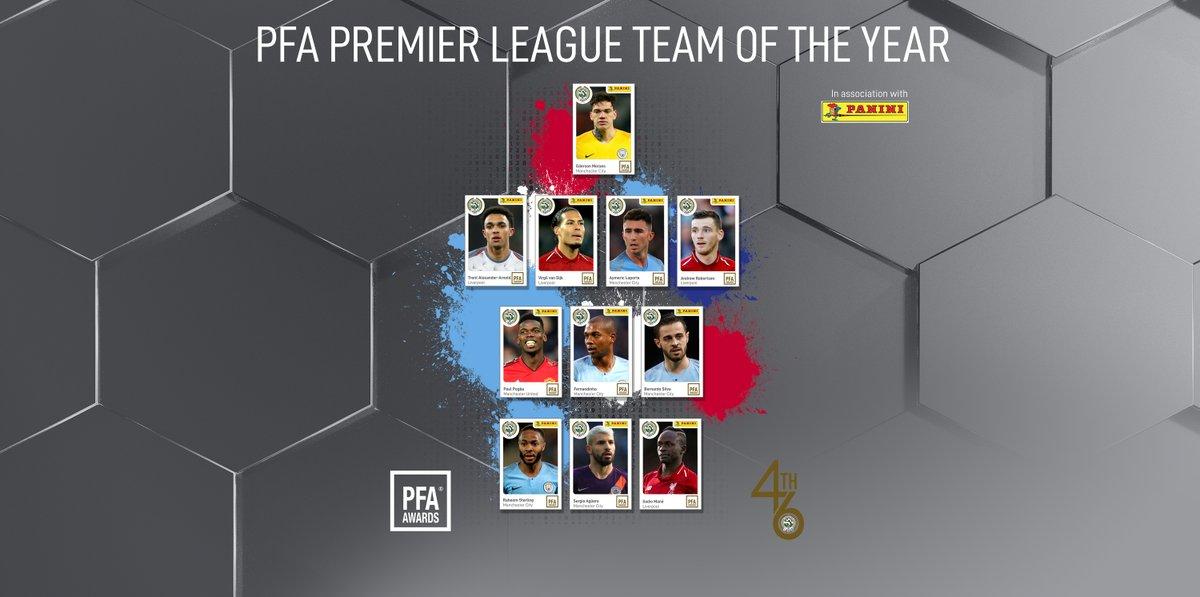 ทีมยอดเยี่ยม PFA 2019 'หงส์-เรือ' พากันติดยับ